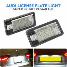 2x 18 LED License Number Plate Light For Audi Canbus S3 A4 B6 S4 Sedan Avant UK