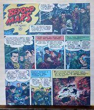 Beyond Mars by Jack Williamson - scarce full tab Sunday comic page June 20, 1954