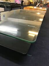 EX Display Shop Floor Model Black High Gloss and Glass Coffee Table