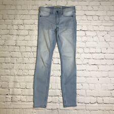 Abercrombie Fitch Jean Leggings Size 2R Stretch Light Denim Stretch Skinny C16