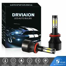 2x H8/H9/H11 LED Headlight 200W Bulbs 6500K 20000LM 4-Sides High Low Beam Light
