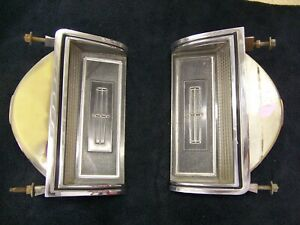 76 77 78  LINCOLN MARK V 5 PARK TURN SIGNAL LAMPS