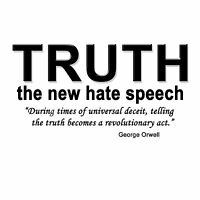 Anti Obama TRUTH THE NEW HATE SPEECH Conservative Political Shirt