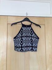 Abercrombie & Fitch Blue Crop Vest Top Size XS 6