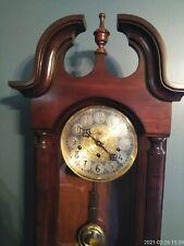 New ListingSligh Carved Chime Wall Clock Franz Hemle Movement Key Pendulum . beautiful ��