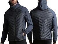 Mens Threadbare Tech Sleeve Puffer Jacket Hooded Quilted Warm Winter Coat New