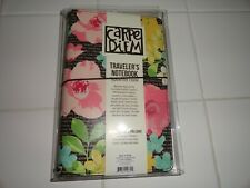 New Carpe Diem Travelers Notebook Planner Black Typewriter Floral Journal