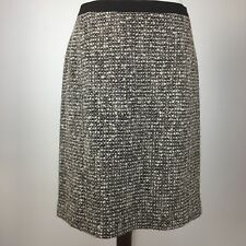 Talbots Women's Size 10 Skirt Brown Tweed Pencil Wool Blend Lined