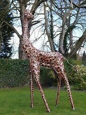 Superb Life Size Hand Painted Metal Giraffe. 3.7m Indoors/Statue/Film Prop
