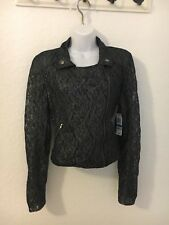 Material Girl Juniors' Cropped Lace Jacket, Size XL NWT