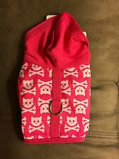 NWT Cute Glam Cat Harness Hot Pink Kitty Skull Hoodie 5-10 lbs