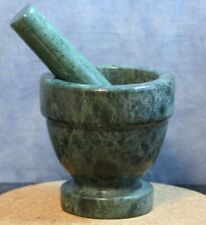 Mortar and Pestle, Footed Jade Green Marble 4""