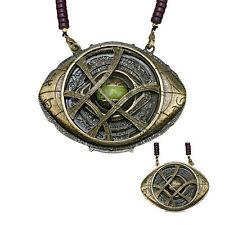 Dr Doctor Strange Eye of Agamotto Necklace Amulet Antique Pendant Cosplay Prop
