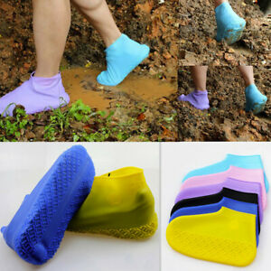 Adult Kids Unisex Rain Shoes Covers Silicone Waterproof Foldable Slip Shoes