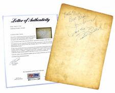 FRANK SINATRA & JOE E LEWIS SIGNED AUTOGRAPHED SHEET MUSIC PSA