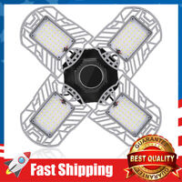 100W 10000LM Deformable LED Garage Ceiling Lights 6500K Daylight White 4 Panels