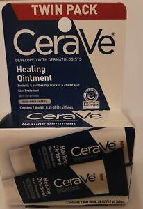 Cerave Healing Ointment Skin Protectant Twin Pack 35 oz 10g Each Exp 6/2022