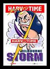 Melbourne Storm Mascot Limited Edition Harv Time Print Framed Harvey