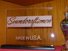 SOUNDCRAFTSMEN ETCHED GLASS HOME AUDIO SIGN