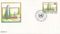 UNITED NATIONS 1989 25c PRE PAID ENVELOPE SMALL FDI NEW YORK SHS