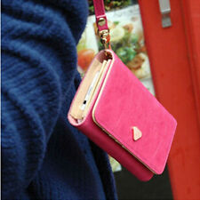 Women Leather Multi-functional Wrist ID Coin Holder Mobile Phone Wallet