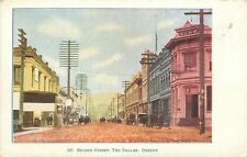The Dalles Oregon~Second Street~Business~Dentist~Rutted Dirt Road~1907 Postcard