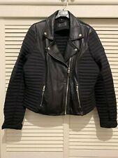 $495 Rudsak leather Down Canadian biker moto jacket black new women size XS