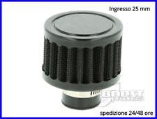 Filtro aria vapori olio mini filtrino auto moto sfiato carter racing tuning 25mm
