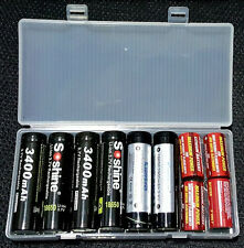 2 x Box Plastico Soshine 8 scomparti batterie al litio 18650 e altri formati.-