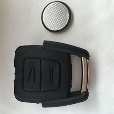 Vauxhall Opel Astra Vectra Zafira 2 Button Remote Key Fob Case with Battery