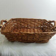 Large Woven Basket Handles Wicker Wood