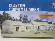 WALTHERS~ #933-2911~ CLAYTON COUNTY LUMBER BUILDING KIT~SEALED~ LOT B~ HO SCALE