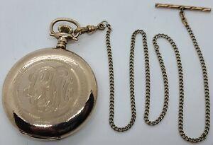 Antique Working WALTHAM Model 1894 Gold G.F. Full Hunter 17J Pocket Watch 12s
