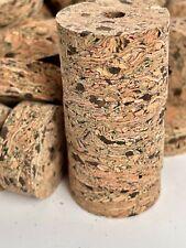 """Cork Rings 100 Burl Mix Brookstone, 1 1/4"""" x 1/2"""" x 1/4"""" Hole"""