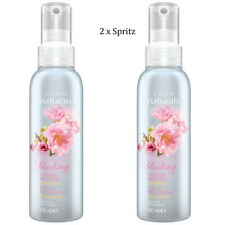 2 x Avon Naturals Scented Spritz Cherry Blossom Room Body Spray Mist 100ml