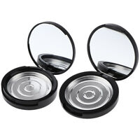 2X Compact Empty Makeup Palette Cases w/ Mirror for Eye Shadow Blush Bronzer