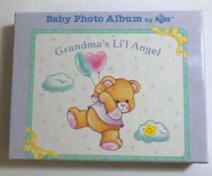 Baby Photo Album Russ Grandma's Lil Angel Bear Vintage 1980's