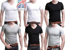 Unbranded Cotton Short Sleeve Stretch T-Shirts for Men