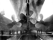Titanic in dry dock propeller section near completion 8 x 10 Photograph