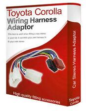 Toyota Corolla CD radio stereo wiring harness adapter lead loom ISO converter