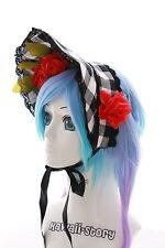 l-214 gothique lolita à carreaux dentelle bonnet bandeau pour Cheveux Accessoire