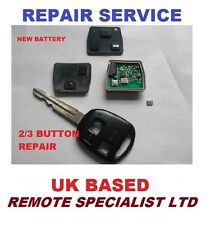 Toyota Yaris 2 or 3 Button Remote key fob Repair service fault fix
