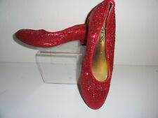 GIRL'S RED SPARKLY SHOES-SIZE 3 1/2