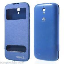 Custodia Blu S-View Copri Batteria per Huawey Ascend G610 Cover Copribatteria