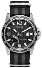 Citizen Eco-Drive Men's Power Reserve Indicator Black Dial 42mm Watch AW7030-06E