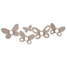 Arti e Mestieri Appendiabiti da parete Butterfly Metallo Beige COD 2322