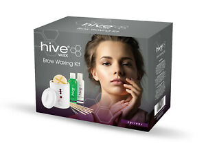 Hive of Beauty EyeBrow Waxing Kit with Petite Wax Heater 200cc
