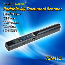Handheld Portable Handyscan Document Book Photo 900DPI A4 Color Scanner TSN415