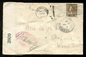 p994 - WW1 Military 1917 Halifax Slogan on Soldier's Censored Cover to Oxford