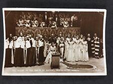 Vintage Postcard: Royalty #A117: Coronation Queen Elizabeth II: Chair Of Estate